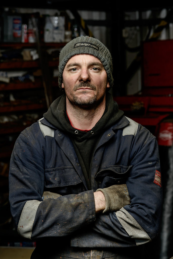 Andy Curtis photographed in his workshop