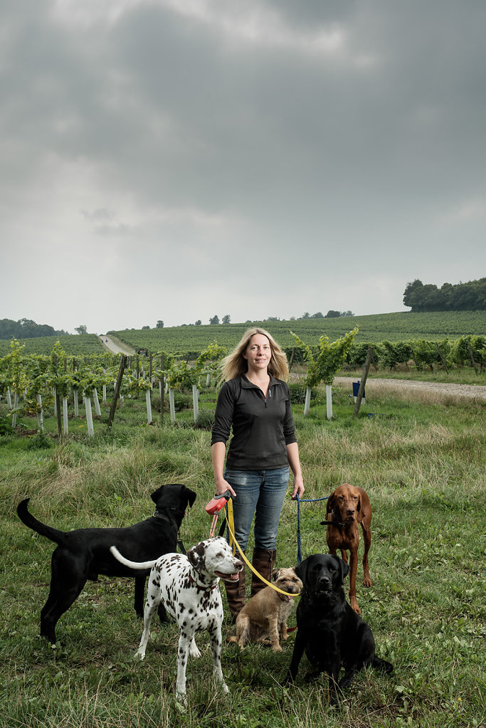 Claire Murdoch photographed at Denbies Vineyard