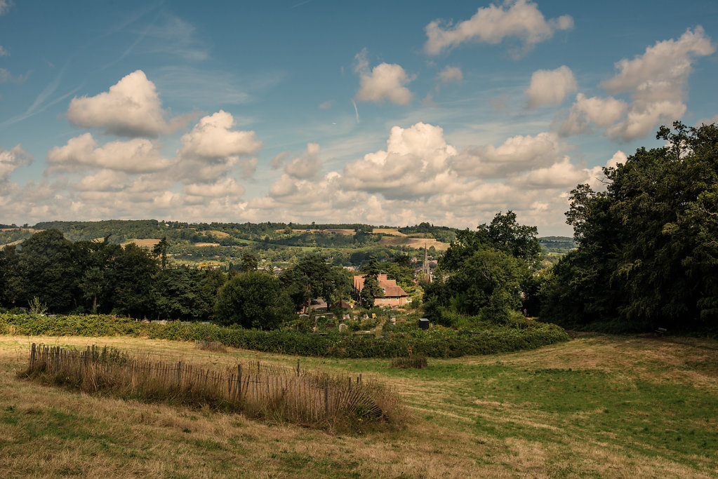 View of Dorking from the Glory Wood