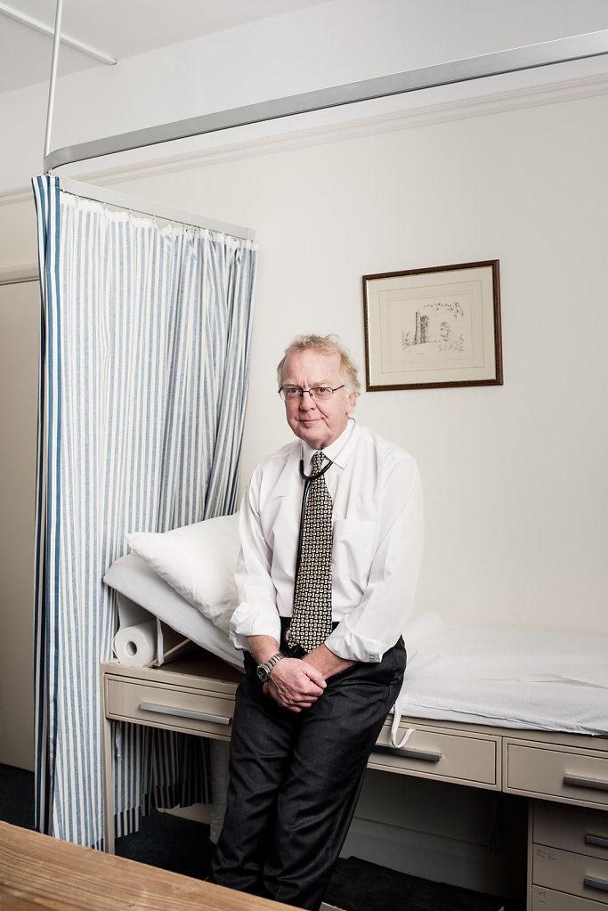 Dr Graham Blockey photographed at his surgery