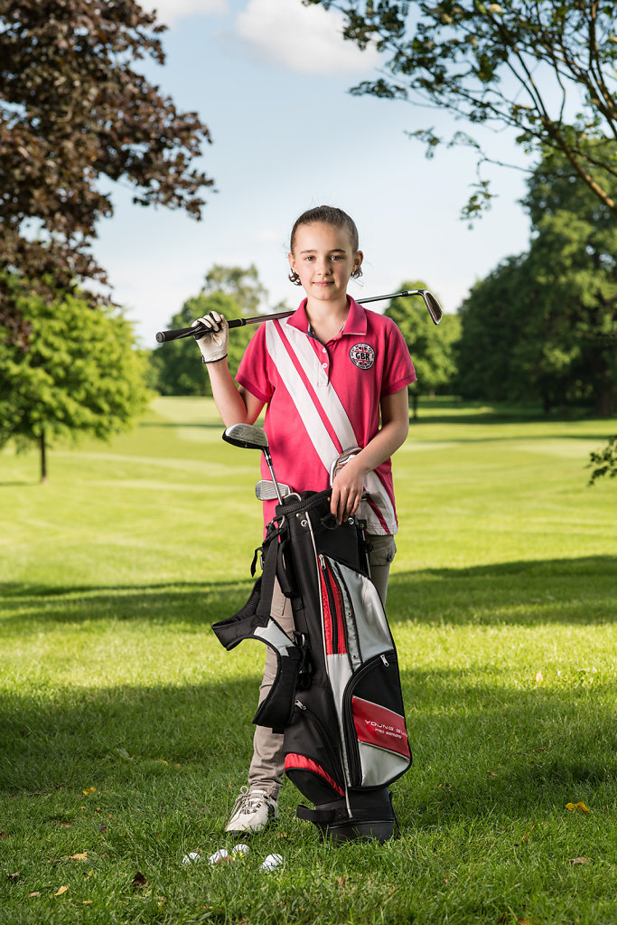 Freya Sampson photographed at Dorking Golf Club