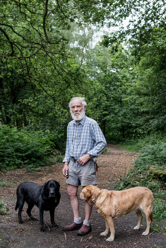 Henry photographed at Abinger Roughs