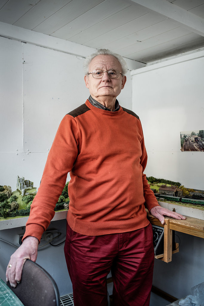 John Botting photographed in his workshop